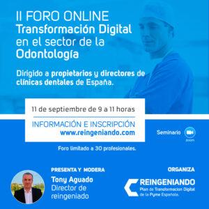 II Foro Online de Transformación Digital en el sector de la Odontología